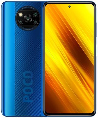 Xiaomi Pocophone X3 NFC Dual Sim 128GB Blue (6GB RAM) - Global Version + FREE Mi True Wireless Earbuds Basic